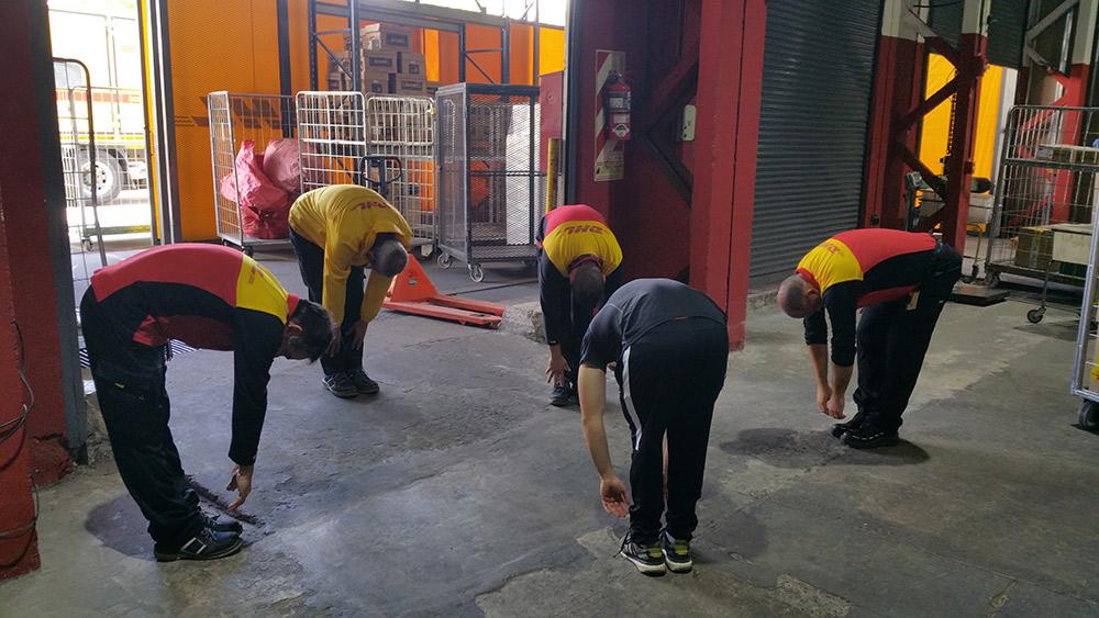 trabajadores haciendo paura activa
